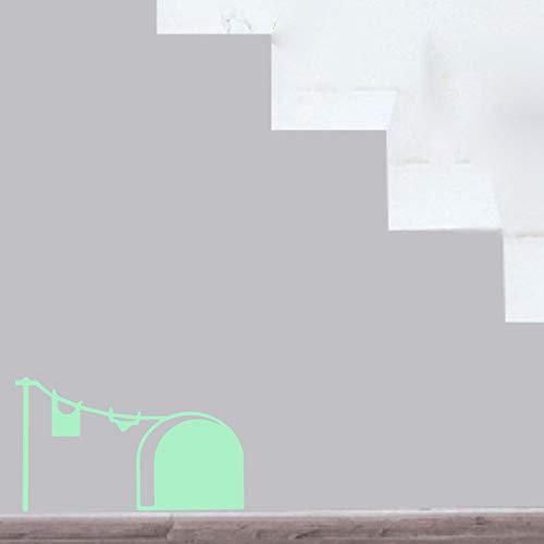 lder/Glow In The Dark Maus Loch Wandaufkleber Kreative Ratte Loch Cartoon Kunst Aufkleber für Schlafzimmer Wohnzimmer ()
