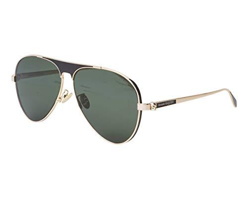 Alexander McQueen Sonnenbrillen (AM-0201-S 002) gold - schwarz - brau-grün