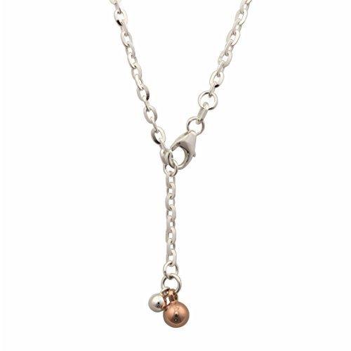 Cavigliera 925 argento bianco/rosa ha placcato la catena del calzino di ancoraggio (8856171199) - Rosa Ha Placcato Argento