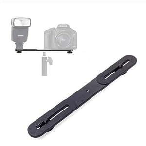 """XCSOURCE® Dual équerre support de flash pour trépied de lumière avec vis 1/4 """"de caméra reflex DV LF407"""