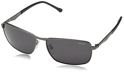 Police Herren Sonnenbrille S8968, Grau (SEMI-MATT Gunmetal), Einheitsgröße