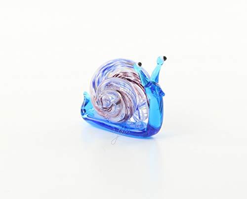 Murano-skulptur (Ellas-Wohnwelt Schnecke Snail Murano-Glas Skulptur Miniature Künstlerglas Figur 4,5cm Hoch Bunt)