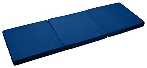 Klappmatratze Faltmatratze Reisematratze Gästebett Bett 195x65x8 (marine) -