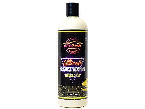 AUTO FANATIC Ultimate Secret Weapon Single Step, Clean polish and Wax in one step, Removes Swirl Marks, Tar, Tree Sap and Water Spots, Professional Grade
