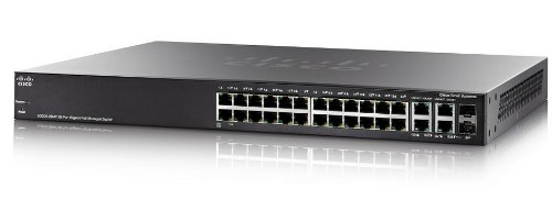 Cisco SG300-28MP-K9-EU Gigabit Ethernet (26 10/100/1000 PoE ports, 2 combo mini-GBIC ports) - K9 Flash-speicher
