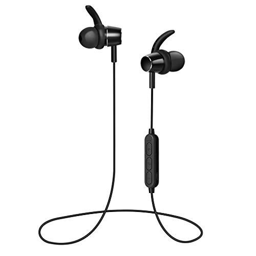 Wireless Bluetooth Kopfhörer 5.0 PF-8E011 Geräuschunterdrückung IPX6 Wassergeschützt 4 Stunden Wiedergabezeit Mikrofon Einstellungen Mini Bluetooth Kopfhörer (Schwarz)