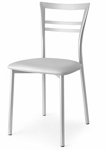 Connubia Calligaris Sedia Go! CB/1419 Acciaio e Sono Alluminio Set 2 sedie