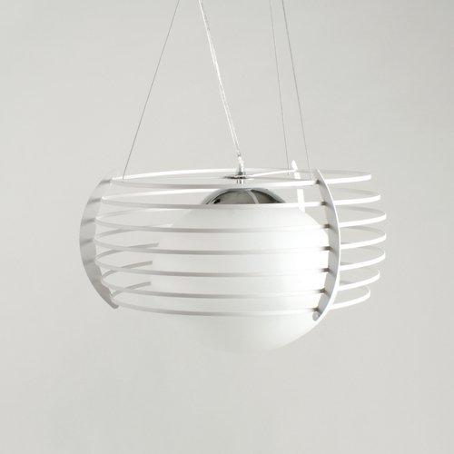 Milchglas Pendelleuchte (Deckenlampe Deckenleuchte Hängeleuchte Pendelleuchte Milchglas Opalglas Lampe Leuchte in Weiß von Design61)