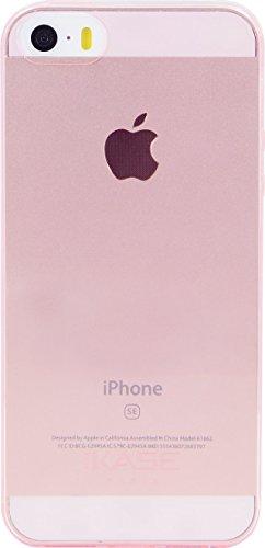 The Kase Paris Coque ultra slim en silicone pour iPhone 5/5s/SE Transparent/Ros