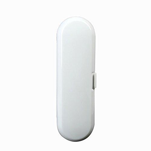 Tragbare elektrische Zahnbürste Aufbewahrungsbox Hülle für Braun Oral-B Zahnbürsten, weiß