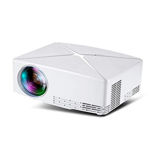 LUOJIE Projektor-Video, 30.000 Stunden LED-Lebensdauer, Projektor tragbarer Heimkino-Projektor, Unterstützung für HD 1080P kompatibles HDMI/VGA/USB/AV für Zuhause