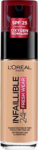 L'Oréal Paris Make-up designer 24H Fresh Wear Base de Maquillaje de Larga Duración , Tono 140 Beige Doré-