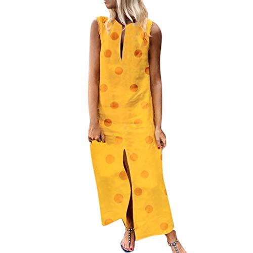 leid Lang Mode Blusenkleid Sommer Leinen Baumwolle Kleider Florydays Kleider Luftiges Kleid Leinenkleid Strandkleider Freizeitkleider Kaftan Kleid Kleid Blumen Gelb 2XL ()