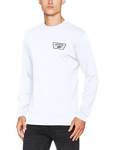 Vans Herren T-Shirt Full Patch Back LS, Weiß (White Black), Medium