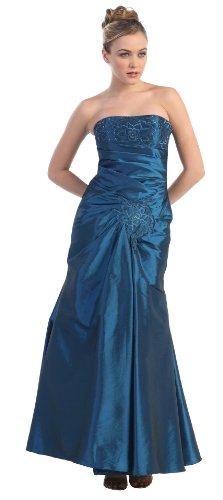 Meerjungfrau-Kleid Abi-Ballkleid lang Abendkleid Brautjungfernkleid bodenlang Hochzeitsgast...