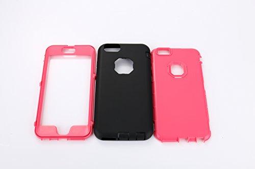 ARTLU® iPhone 6/6s Case Shield Armor Case Protection puissante [3 en1 Color Mix Design], Case dur hybride souple Durable Bumper Case Armure Case Retour couverture avec béquille pour Apple iPhone 6 6S  Rose