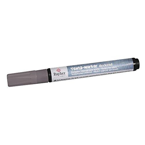 Rayher Hobby 35000606  Textil-Marker deckend, Rundspitze 2-4 mm mit Ventil, silber