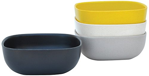 BIOBU gusto by eKOBO 34581 bols grand - 1 (noir/gris/blanc/jaune citron