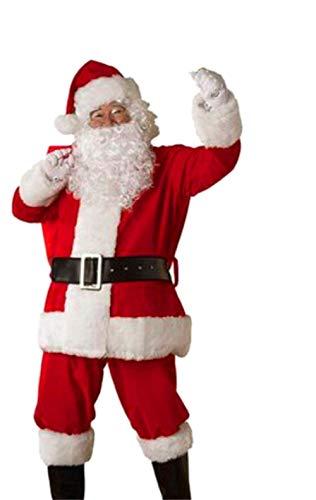 Zolimx Weihnachtsmann Kostüm für Herren Weihnachten süße Männer Anzug Gürtel Hut Christmas Kleidung Hosen Weihnachtsmann Set (Rot, XL) (Süßes Weihnachtsmann Kostüm)
