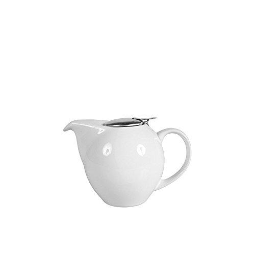 Sema 98415 Théière Boule Céramique Blanche PM Blanc, 18 x 17,5 x 10,5 cm