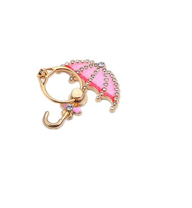 TBOP PHONE RING BUCKLE THE BEST OF PLANET SIMPLE & STYLISH Metal cartoon umbrella ring bracket bracelet buckle lazy folding mobile phone ring buckle diamond in pink color
