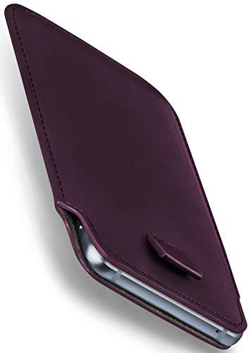 moex Apple iPhone 5S | Hülle Lila Sleeve Slide Cover Ultra-Slim Schutzhülle Dünn Handyhülle für iPhone 5/5S/SE Case Full Body Handytasche Kunst-Leder Tasche (Iphone 5s Case-tasche Für Frauen)