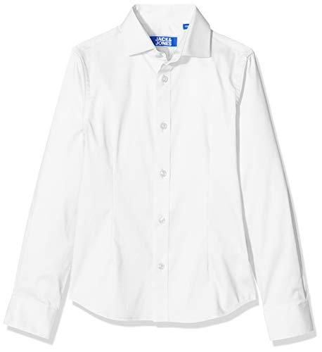 JACK & JONES Jungen JPRPARMA Shirt L/S JR STS Hemd, Weiß (White White), 140