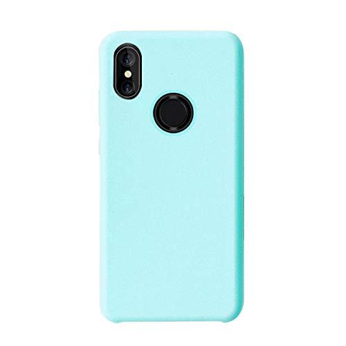 Funda Xiaomi Mi A2 Silicona Ultra Suave TPU Gel Protectora Carcasa Caja Ultra Delgado Anti-Arañazos Absorción Impacto Cover para Telefono Xiaomi Mi 6X Caso (Xiaomi Mi A2(Mi 6X), Azul Hielo)