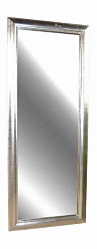 Livitat SX1281-S Wand- Badspiegel, 150 x 60 cm, Holz, silber