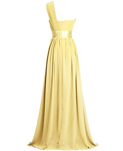 Eudolah Maxi robe asymetrique de soiree en tulle avec ornement de ceinture Femme Kaki