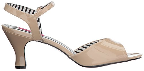 Pleaser Damen Jenna-09 Sandalen mit Absatz Beige (Cream Pat)