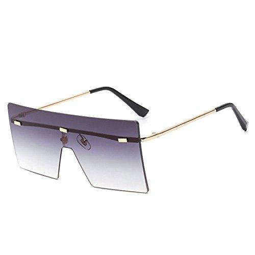 xuexue Europäischen Stil Sonnenbrille Große Box Rahmenlos Quadratisch Sonnenbrille Mode Mode Stück Retro Persönlichkeit Sonnenschirm Schutzbrille,Darkgrey