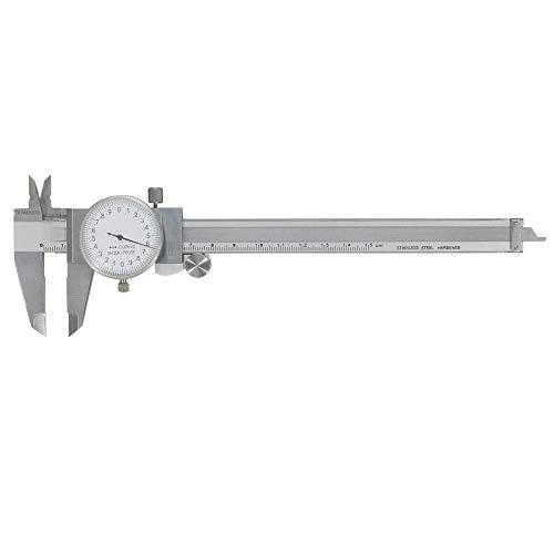 JeCo Profi Uhrmessschieber - DIN 862 - Mit Feststellschraube - Rundskala mit 1-Zeiger-System - Mit Rollenfeinzustellung - Zeiger System