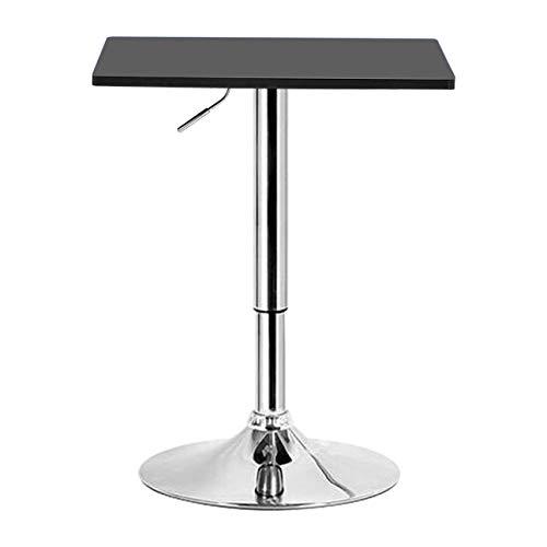 eSituro SBST0094 1 x Bartisch Esstisch Küchentisch Stehtisch, höhenverstellbar & 360° drehbar, Tischplatte 60x60 cm, Schwarz