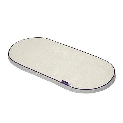 Clevamama Clevafoam Schaumstoff Matratze für Korb und Kinderwagen 74x30cm - Weiß