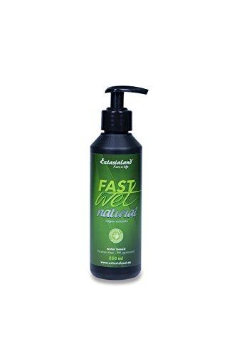Extasialand Bio Gleitgel Fastwet Natural 250 ml natürliches veganes Gleitmittel auf Wasserbasis Massagegel ohne Konservierungsstoffe mit schlauem Pumpverschluss
