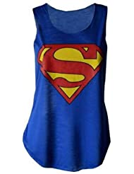 MyMixTrendz - Culture Superman Batman Femmes Top Tie Up Vest