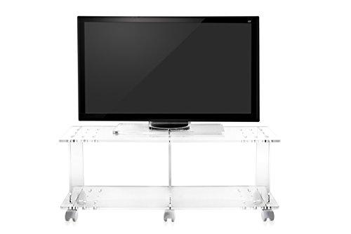 Iplex design imago mobile porta tv con ruote plexiglass pmma
