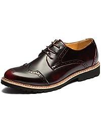 Zapatos de hombre exterior / Casual Oxfords Charol Negro / Plata / negro us9.5 Borgoña / ue42 / uk8.5 / CN43