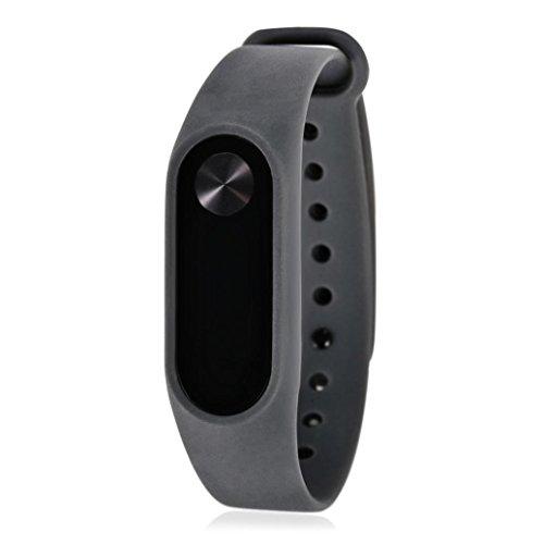 squarex weiche TPU Original Silikon Handschlaufe Armband Armband Ersatz für Xiaomi Mi Band 2, Damen, grau, AS Show