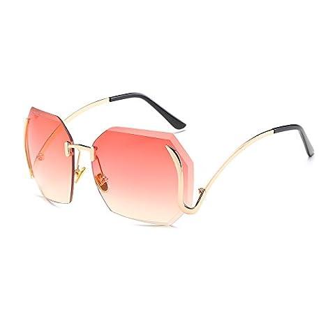 CVOO 2017 Casual Women Frameless Sunglasses Fashionable Endless Big Frame Glasses Designer Ladies Female Eyewears