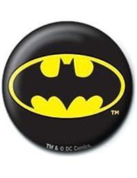DC Comics Batman Logo Button. Offiziell lizenziert