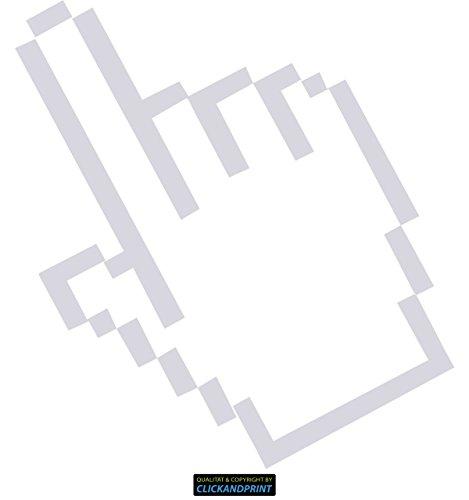 CLICKANDPRINT Aufkleber » Mauszeiger, 110x103,0cm, Transparent • Wandtattoo / Wandaufkleber / Wandsticker / Wanddeko / Vinyl