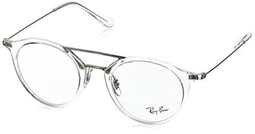 Ray-Ban Unisex-Erwachsene Brillengestell 0rx 7097 2001 49, Weiß (White Transparente)