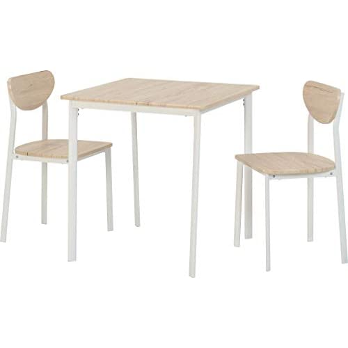 Seconique Small Dining Set with 2 Riley Chairs, 2 Seater