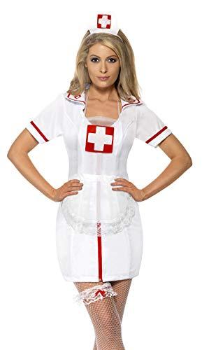 Krankenschwester Set 3-teilig Nurse Set Hut Strumpfband ()