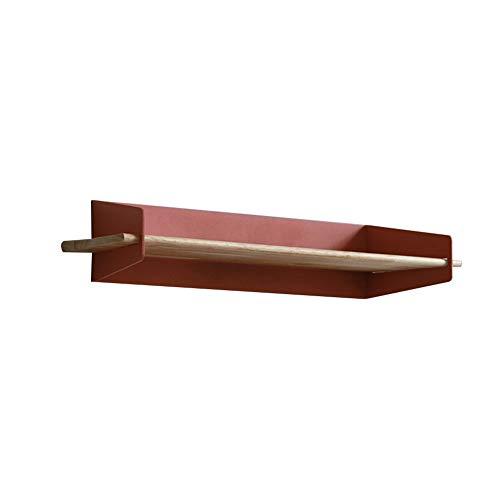 Chaoxian mensole da parete muro angolo nordico soggiorno bagno arte del ferro scaffale di stoccaggio espositore, 6 colori, 3 dimensioni (colore : brown, dimensioni : 48x14.5x10cm)