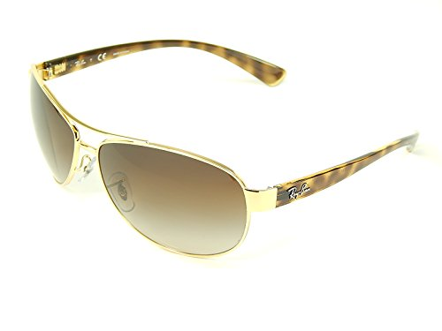 New Ray Ban Oversized Aviator RB3386 001/13 Gold/Brown Grad Lens 63mm Sunglasses