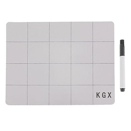 MagiDeal Wiederbeschreibbare Anti Rutsch Oberfläche Magnetische Projekt Matte Mit Marker Stift für Iphone (Marker-matten)