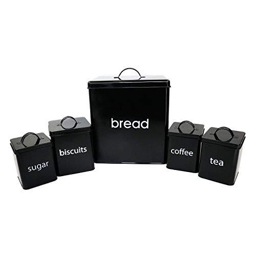 Generic Tea Su Set Brot Read Bisc Dose Dose Se Aufbewahrungsdosen für Kekse, für Tee, Zucker, Kaffee, Küche, 5 Stück -
